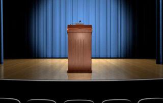 stage with podium