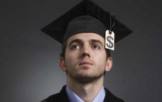 College Graduate with dollar sign tassle